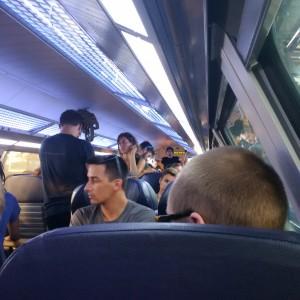 Mit dem Zug nach Heidenau.