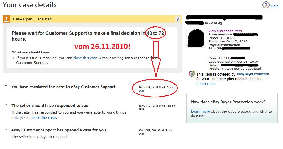 Ebay Fall Eröffnet